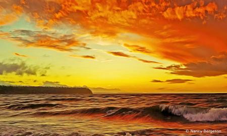Cape George, WA ~ Sunset