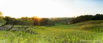 Hazing overlook of Sheyenne River valley