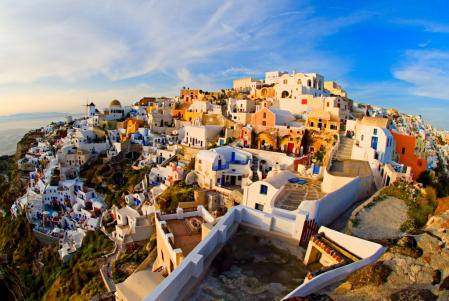 Oia, Greece Before Sunset