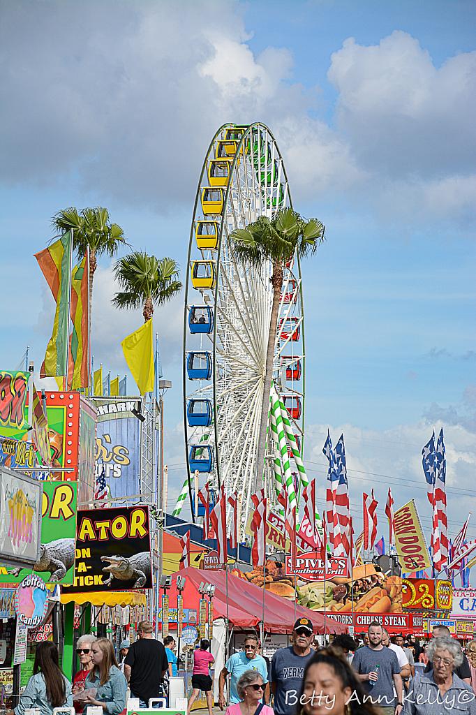 Ferris Wheel, Flags and Fairs