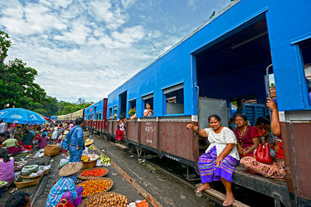 Train in the bazaar