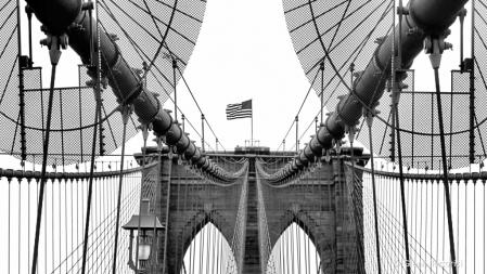 Brooklyn Bridge Architecture in B&W