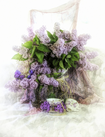 Lilacs at Tea Time