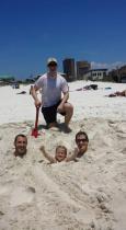 Sand 4 people beach