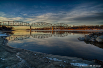 Bismarck Railroad bridge at sunrise