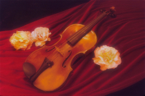 Violin with Roses
