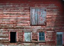 Closeup Of Old Barn