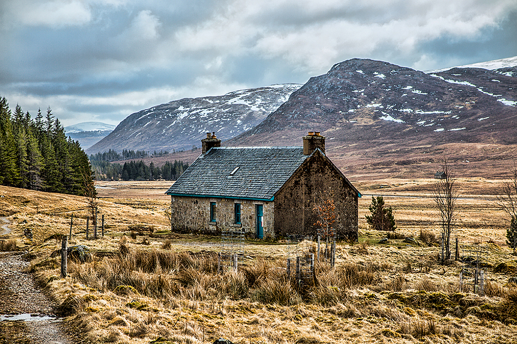 Melgrave Bothy on the  Corrieyairack Pass
