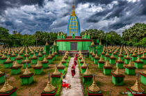 The five hundred stupas in Bago