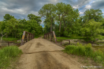 Old bridge over Sheyenne river