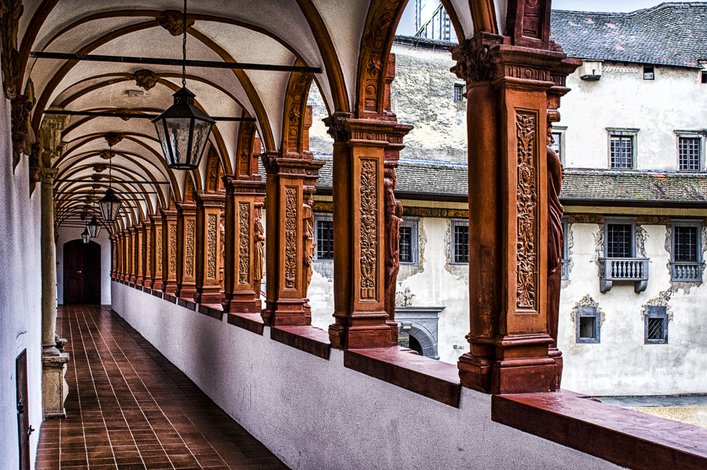 Passageway in a Medieval Castle