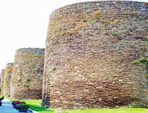 Roman walls in Spain.