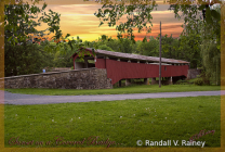 Covered Bridge at sunset...