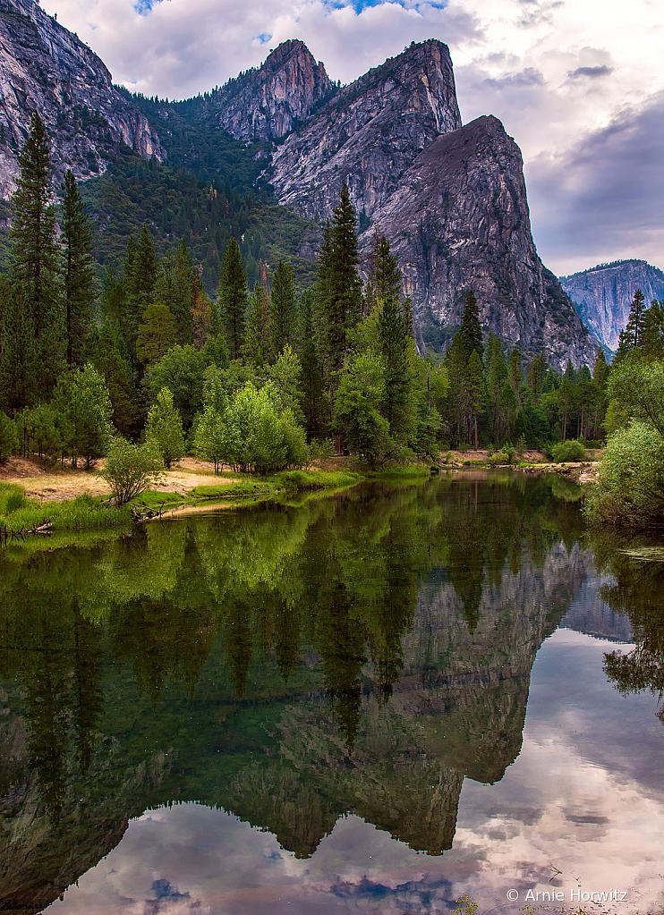 Three Brothers Reflection - Yosemite