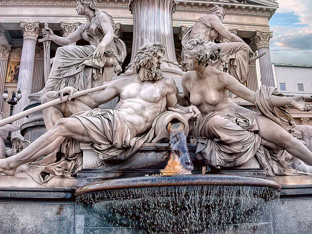 Athena Fountain Detail - ID: 15828121 © Paul Coco