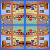 Vintage Pantry Quadriptych