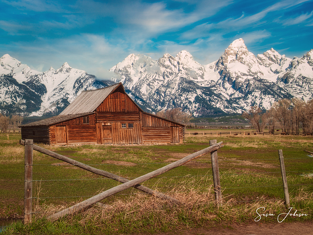 Wyoming Barn - ID: 15828885 © Susan Johnson