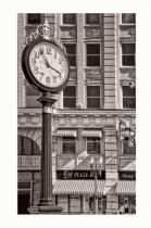 Salisbury Clock - Black & White