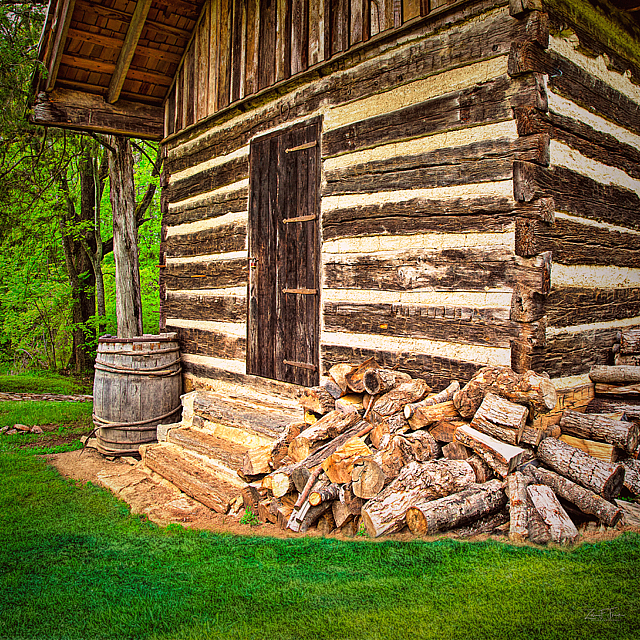 Old Stone House Log Cabin