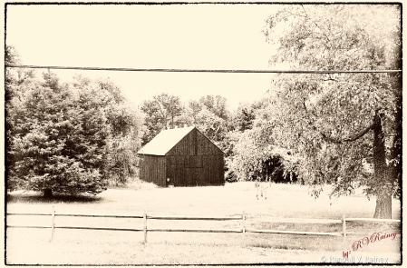 Barn with Snow...