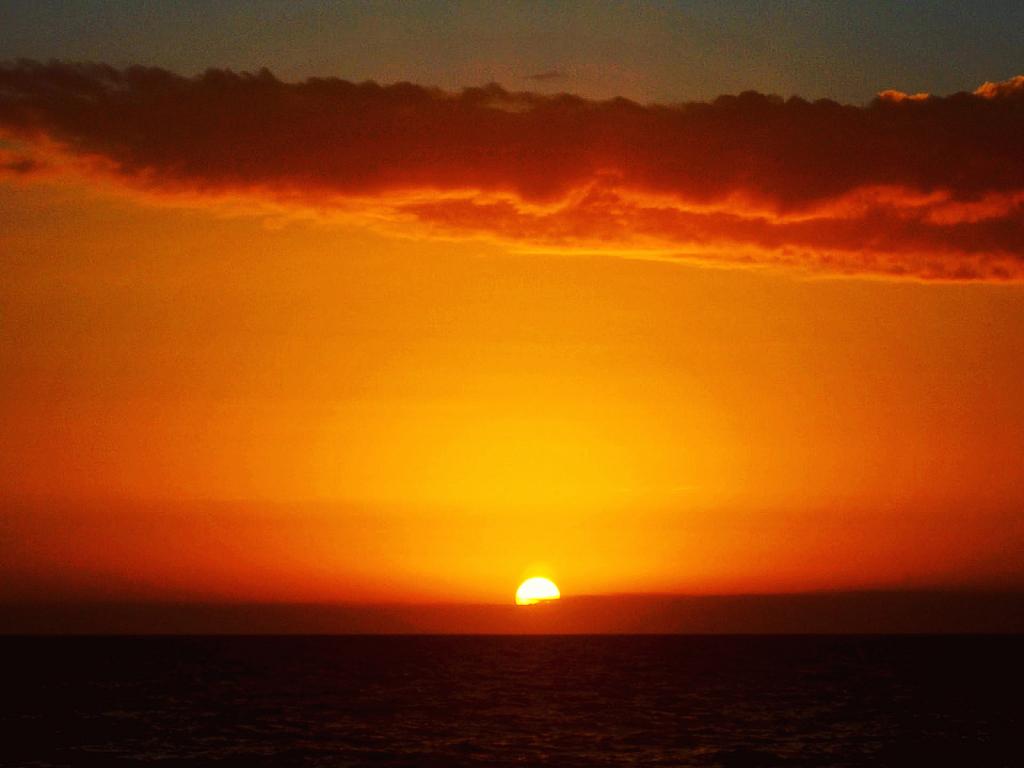 Sun Sinking Into Gulf from Florida