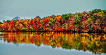 Fall Reflections from Van Buren Lake