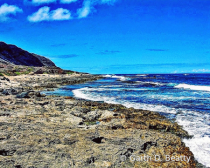 Pacific Ocean from Northwest Point of Oahu.