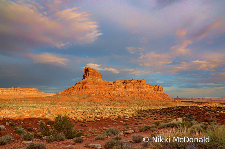 Big Sky in Valley of the Gods