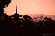 Kyoto pagoda at dusk
