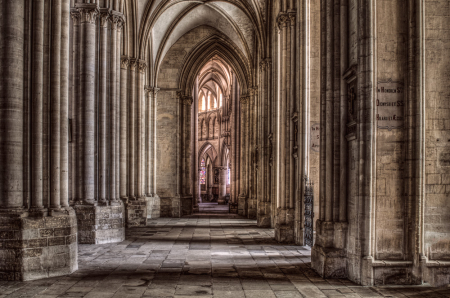 Cathedral in Coutance, France