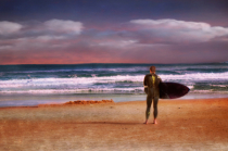 Surfer on Vilano Beach