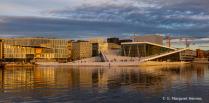 Opera House Oslo at Sunset