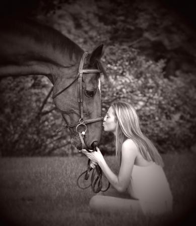 Girl & her horse