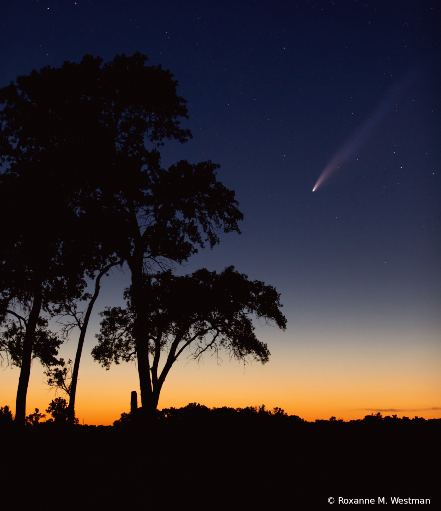 Comet Neowise over North Dakota skies