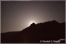 Sadona moon lit mountains