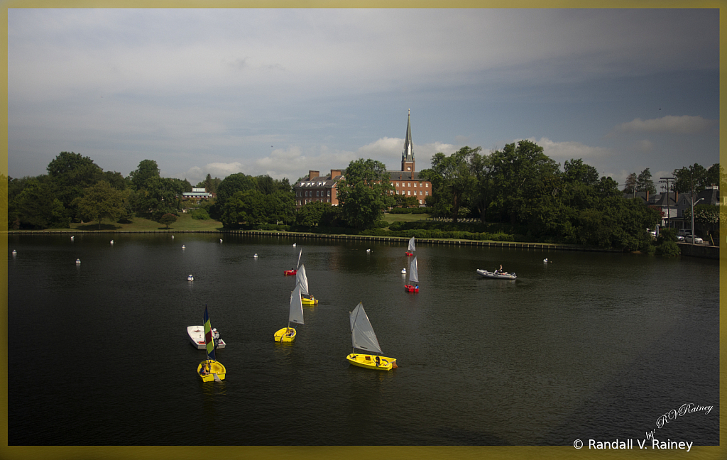 Kids in Annapolis sailing on Spa Creek