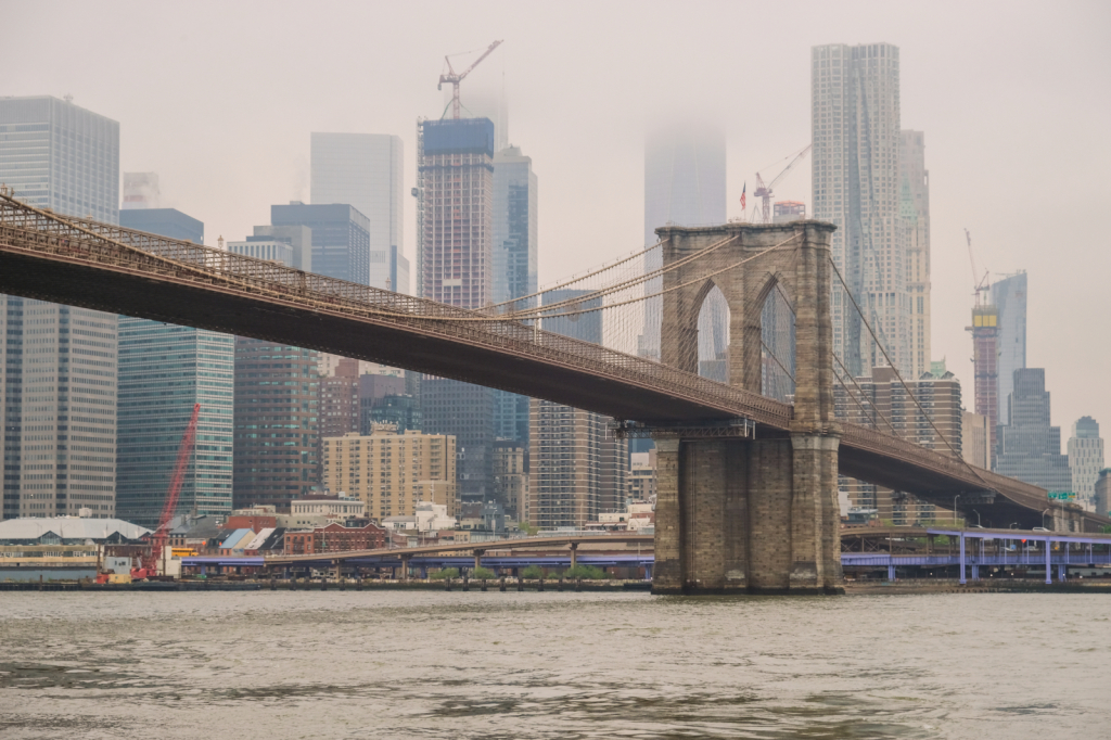 Low clouds over Manhattan