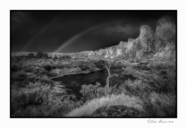 Rain Storm at Salt River BW