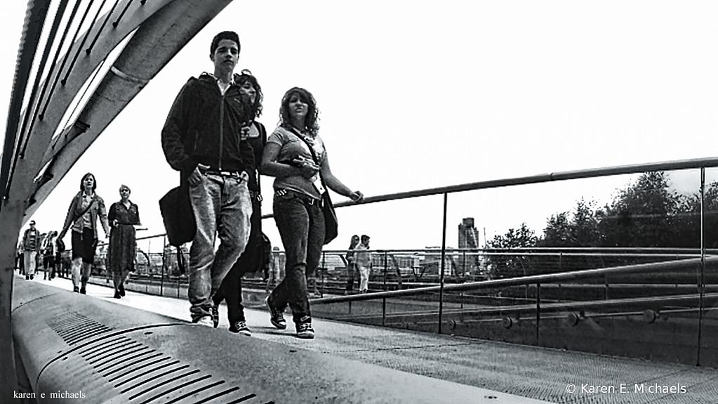 Walking Millennium Bridge - ID: 15836741 © Karen E. Michaels