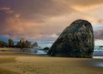 Sunset Oregon Beach