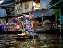 ~ ~ LADY BY THE FLOATING MARKET ~ ~