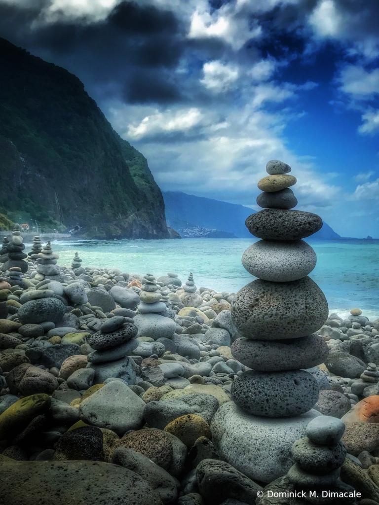 ~ ~ STONE STACKS BY THE ROCKY BEACH ~ ~