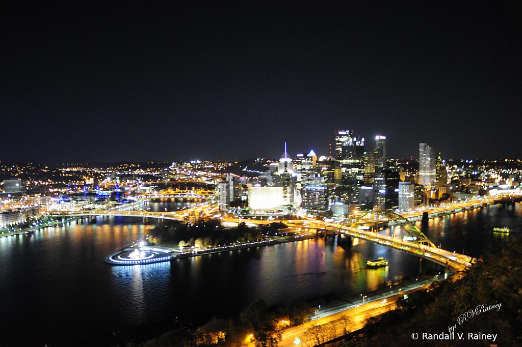 Pittsburgh Pa Bridge at night