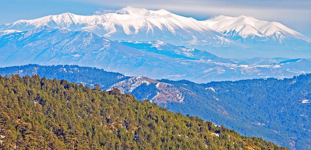 Olympus mountain in early winter.