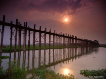 Sunrise Over Wooden Bridge