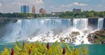The American site Niagara Falls.