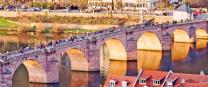 Old bridge in Heidelberg, Germany.