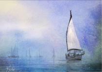 Foggy Sailboats