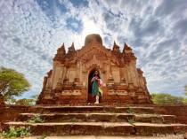 Standing under the shade of Bagan Bagoda