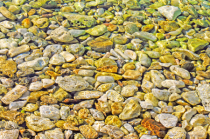 Shimmering waters and Shining pebbles.